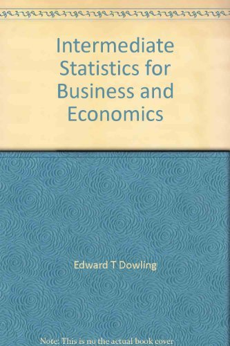 9780072413557: Intermediate Statistics for Business and Economics
