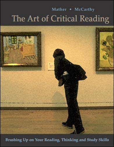 9780072413762: The Art of Critical Reading