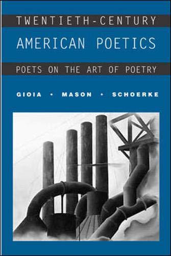 9780072414721: Twentieth-Century American Poetics: Poets on the Art of Poetry