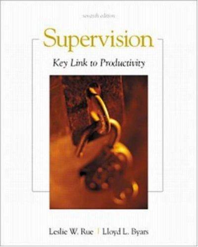 9780072415940: Supervision: Key Link to Productivity