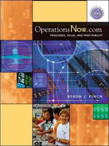 9780072416404: OperationsNow. Com: Processes, Value, and Profitability (McGraw-Hill/Irwin Series Operations and Decision Sciences)