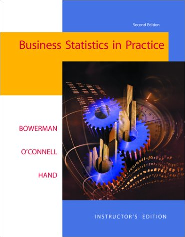 9780072416657: Business Statistics in Practice with Student CD-Rom