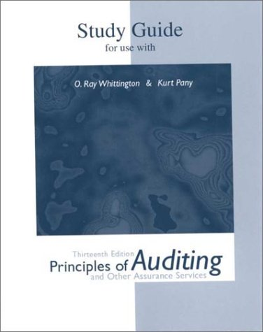 9780072416879: Study Guide for use with Principles of Auditing and Other Assurance Services