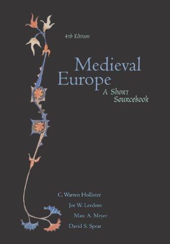 9780072417388: Medieval Europe: A Short Sourcebook