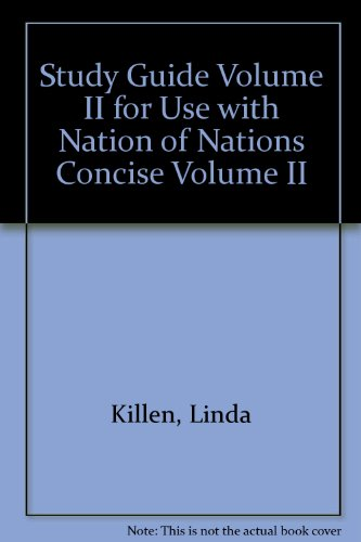 9780072417777: Study Guide Volume II for use with Nation of Nations Concise Volume II