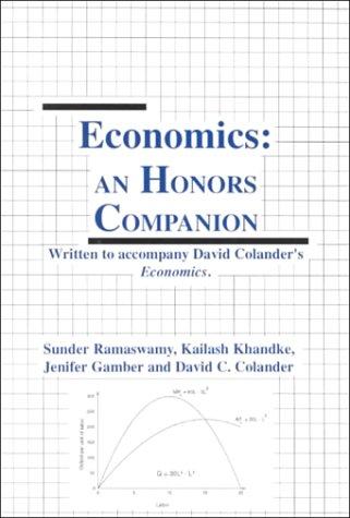 9780072418361: Honors Companion to accompany Economics