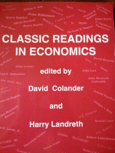 9780072418378: Classic Readings in Economics