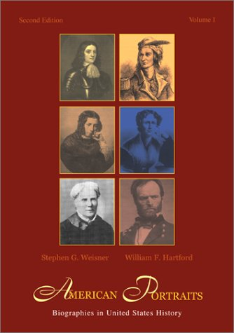 9780072419436: American Portraits: Biographies in United States History, Volume 1