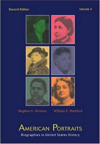 9780072419474: American Portraits: Biographies in United States History, Volume 2