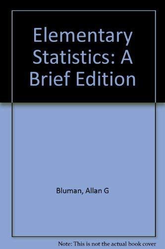 Elementary Statistics: Workbook A Brief Edition (0072420774) by Bluman, Allan G.