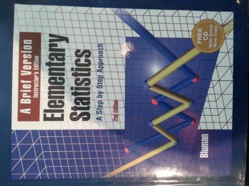 9780072420838: Elementary Statistics: A Brief Version (Instructor's Edition)