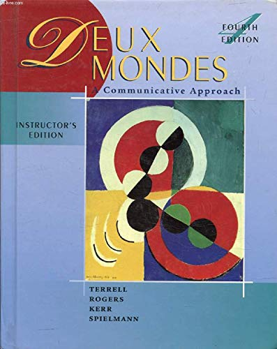 9780072421644: Deux Mondes a Communicative Approach (Instructor's Edition) (English and French Edition)