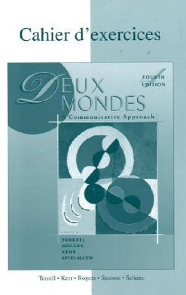 9780072421651: Workbook/Lab Manual to accompany Deux mondes: A Communicative Approach