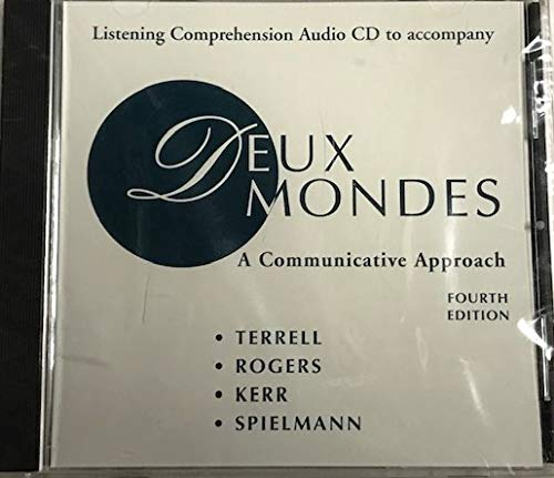 9780072421729: Listening Comprehension Audio CD (Component) to accompany Deux mondes: A Communicative Approach