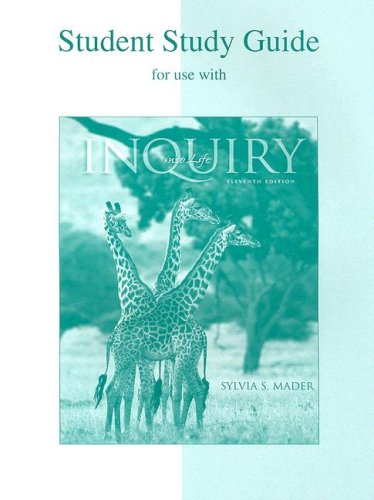 9780072422030: Inquiry Into Life: Student Study Guide for Use with: 1