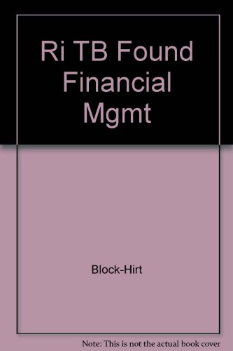 Ri TB Found Financial Mgmt: Block-Hirt