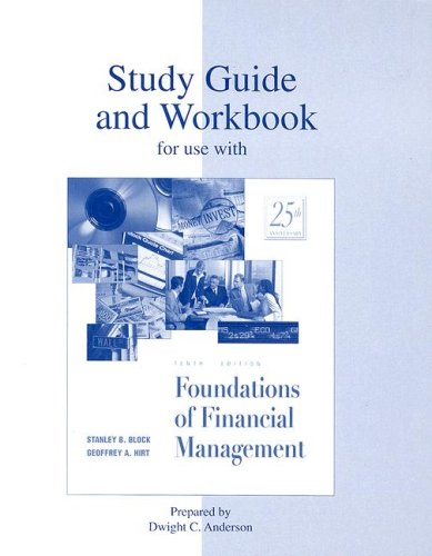 9780072422801: Study Guide/Workbook to accompany Foundations of Financial Management