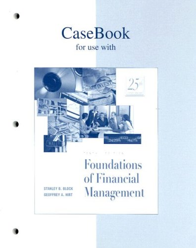 9780072422825: Casebook to accompany Foundations of Financial Management