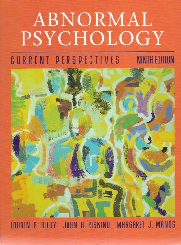 9780072422986: Abnormal Psychology: Current Perspectives