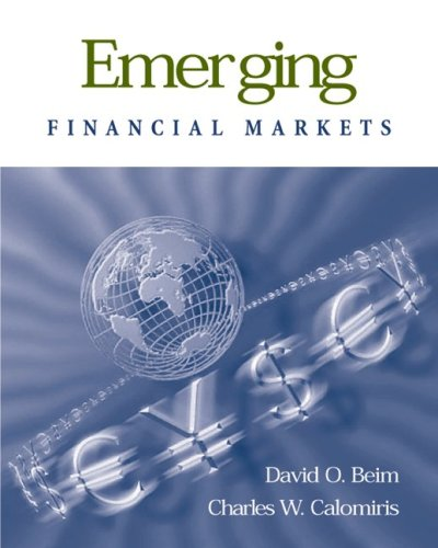 9780072425147: Emerging Financial Markets