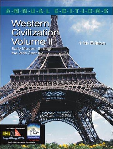 9780072425802: Annual Editions: Western Civilization, Volume 2, 11/e
