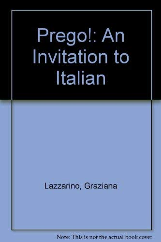 9780072427325: Laboratory Manual (Part B) to accompany Prego! An Invitation to Italian