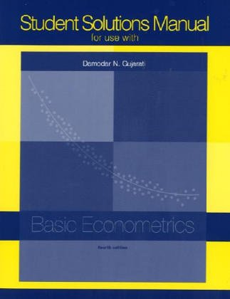 9780072427929: Student Solutions Manual to accompany Basic Econometrics