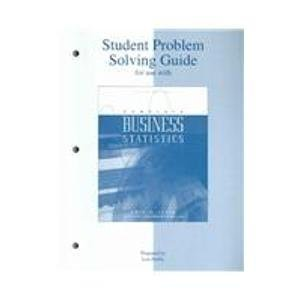 9780072428001: Student Problem Solving Guide T/A Complete Business Statistics