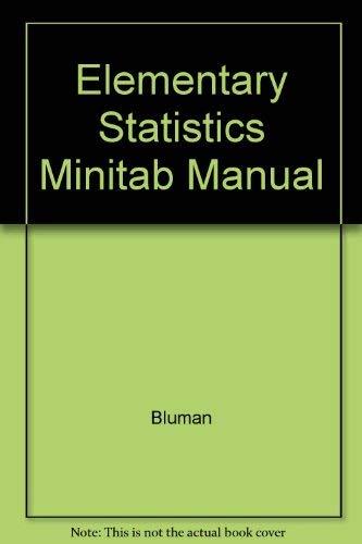 9780072431711: Elementary Statistics Minitab Manual