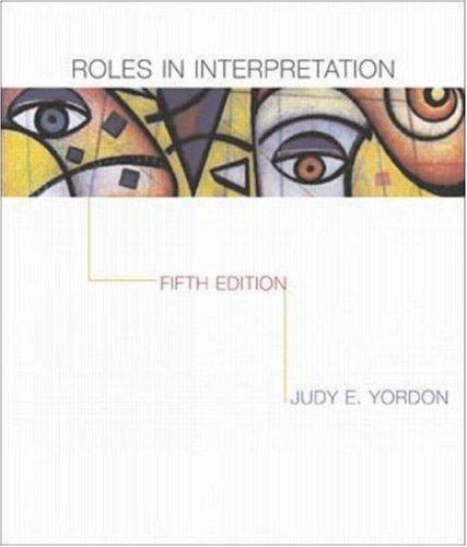 Roles In Interpretation: Yordon,Judy