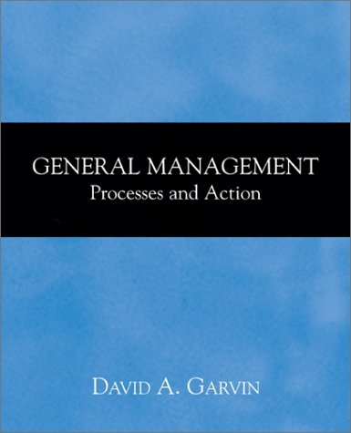 9780072432411: General Management:  Processes and Action