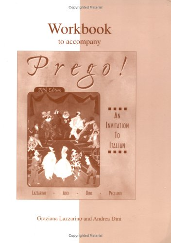9780072432671: Workbook to accompany Prego! An Invitation to Italian