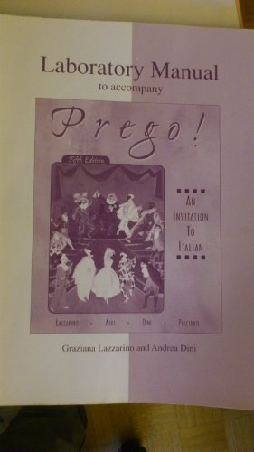 9780072432695: Prego: Laboratory Manual (Part A & B Conbined)