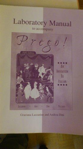 9780072432695: Laboratory Manual to accompany Prego! An Invitation to Italian