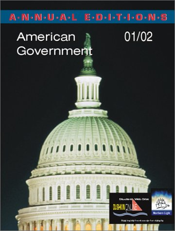 9780072433104: Annual Editions: American Government 01/02