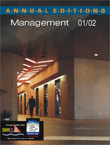 9780072433401: Annual Editions: Management 01/02
