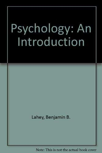 Psychology: An Introduction: Benjamin B. Lahey