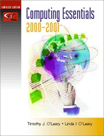 9780072437010: Computing Essentials: 2000/2001