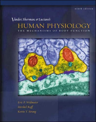 9780072437935: Vander, Sherman, Luciano's Human Physiology: The Mechanisms of Body Function