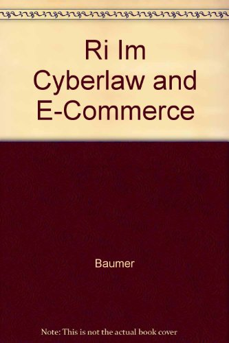 9780072441215: Ri Im Cyberlaw and E-Commerce