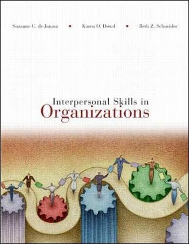 9780072441222: Interpersonal Skills in Organizations