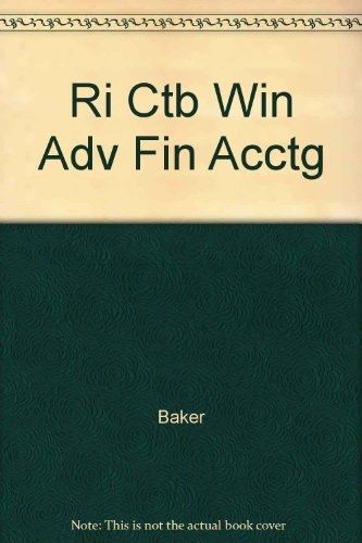 9780072444179: Ri Ctb Win Adv Fin Acctg