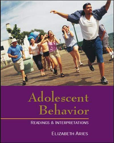 9780072448139: Adolescent Behavior: Readings and Interpretations (Textbook)