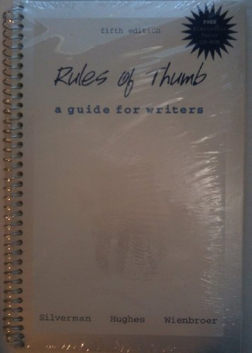 9780072449860: Rules of Thumb: A Guide for Writers