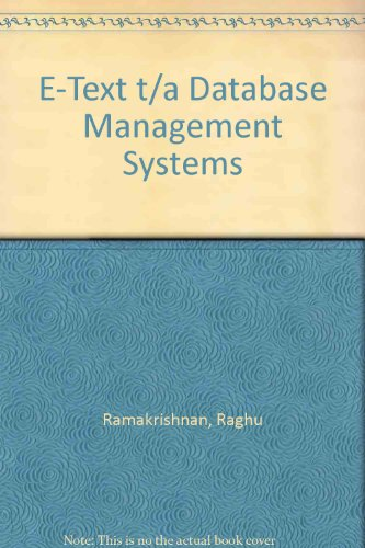 9780072450521: E-Text t/a Database Management Systems