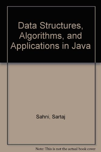 9780072450538: Data Structures, Algorithms and Applications in Java