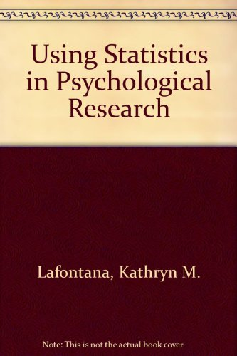 9780072452839: Using Statistics in Psychological Research