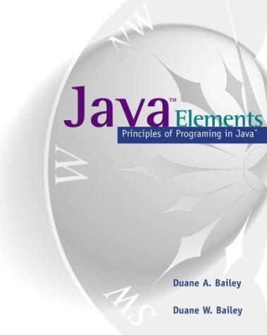9780072453409: Java Elements: Principles of Programming in Java