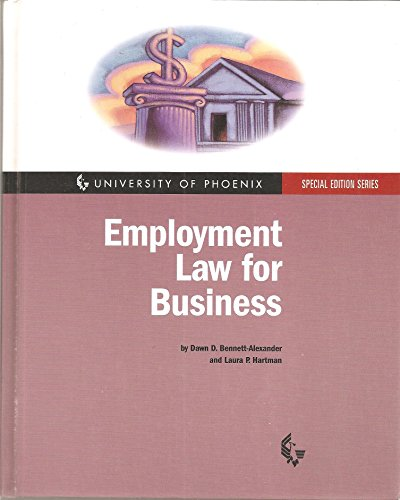 9780072454505: Employment Law for Business (University of Phoenix Special Edition Series)