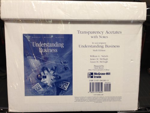 9780072455854: Transparency Acetates with Notes to accompany Understanding Business